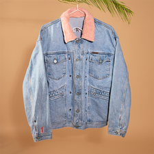 The real find - reworked denim jacket