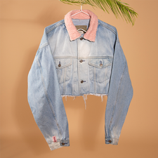 The real find cropped - reworked denim jacket