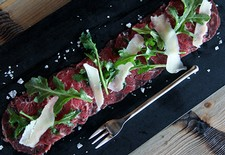 Beef Carpaccio With Baby Arugula & Shaved Asiago