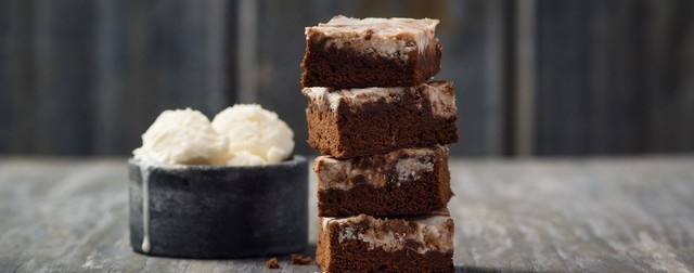 Fudgy Goat Cheese Brownies