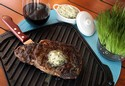 Grilled Ribeye With Blue Cheese Butter