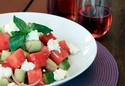 Watermelon & Cucumber Salad With Fresh Ricotta