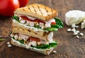 Goat Cheese Chopped Chicken Panini